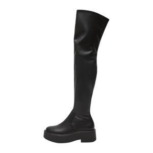 overknee plateau laarzen zwart