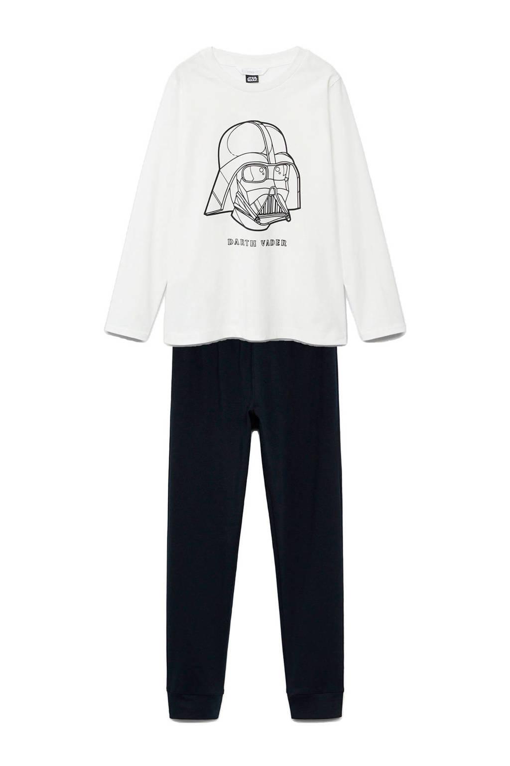 Mango Kids   pyjama Star Wars zwart/wit, Zwart/wit