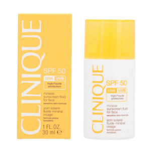 Mineral Sunscreen Fluid Face zonnebrand SPF 50 - 30 ml