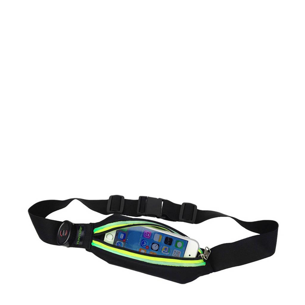 Tunturi   hardloopheuptas met LED verlichting groen, Zwart/groen