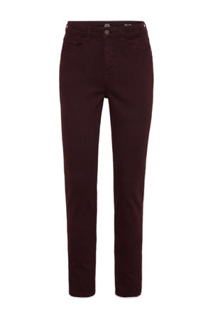 high waist skinny jeans donkerpaars