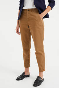 WE Fashion straight fit broek hazelnut, Hazelnut