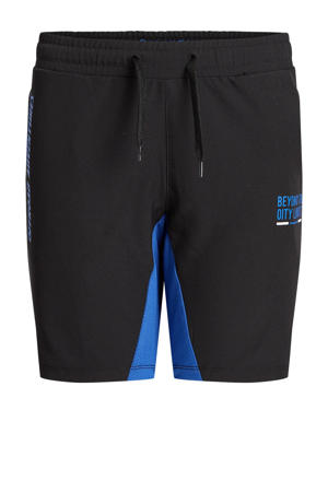 sportshort zwart/blauw