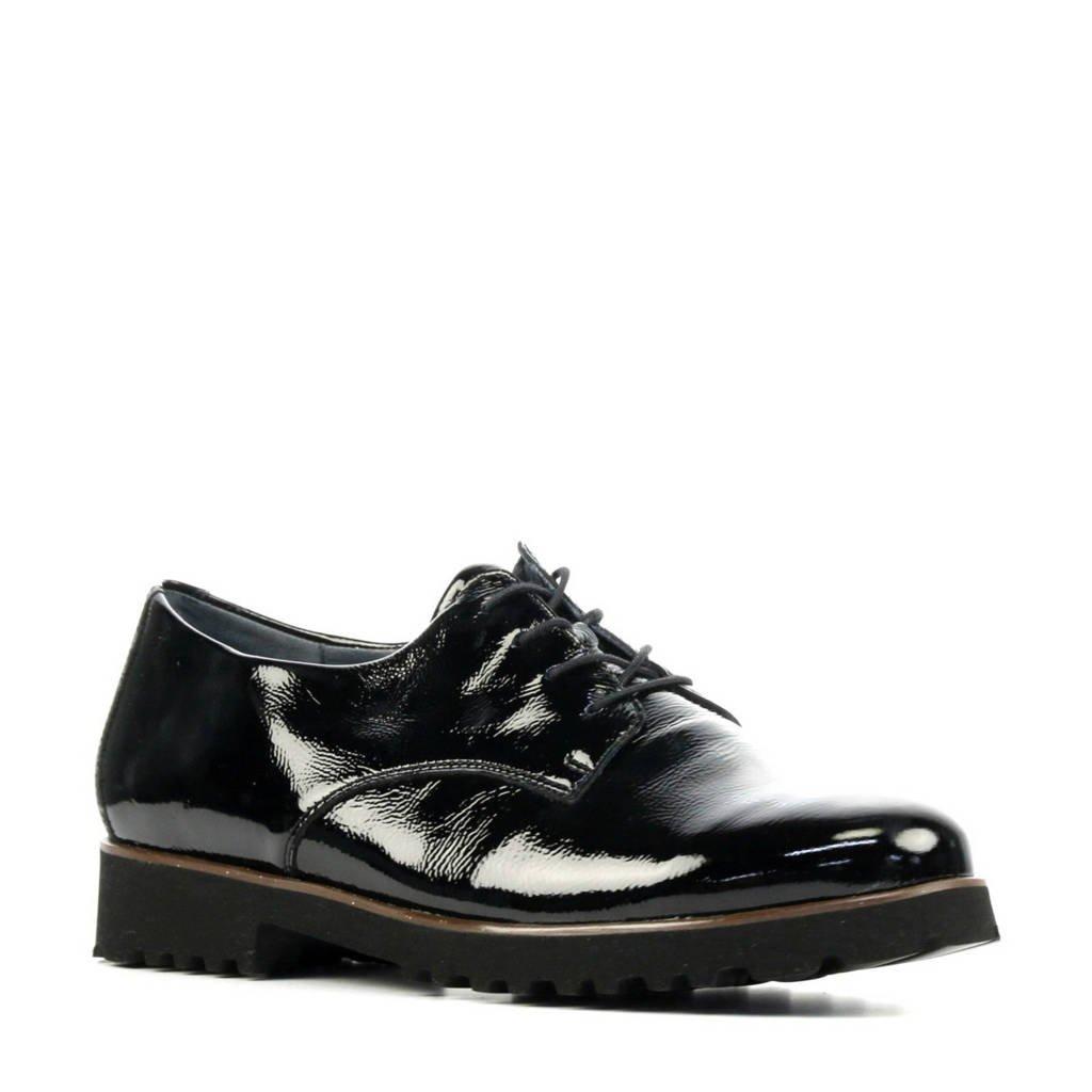 Waldlaufer 772001 comfort lakleren veterschoenen zwart, Zwart