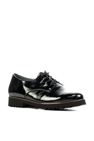 772001 comfort lakleren veterschoenen zwart