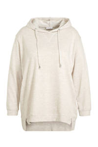 C&A XL Yessica gemêleerde hoodie ecru, Ecru