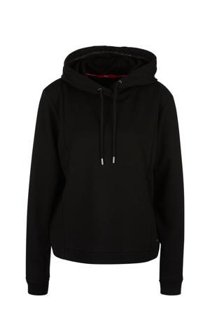 hoodie met glitters zwart