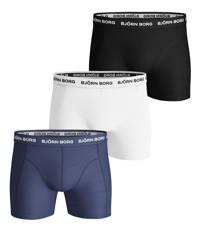 Björn Borg boxershort (set van 3), Donkerblauw/wit/zwart