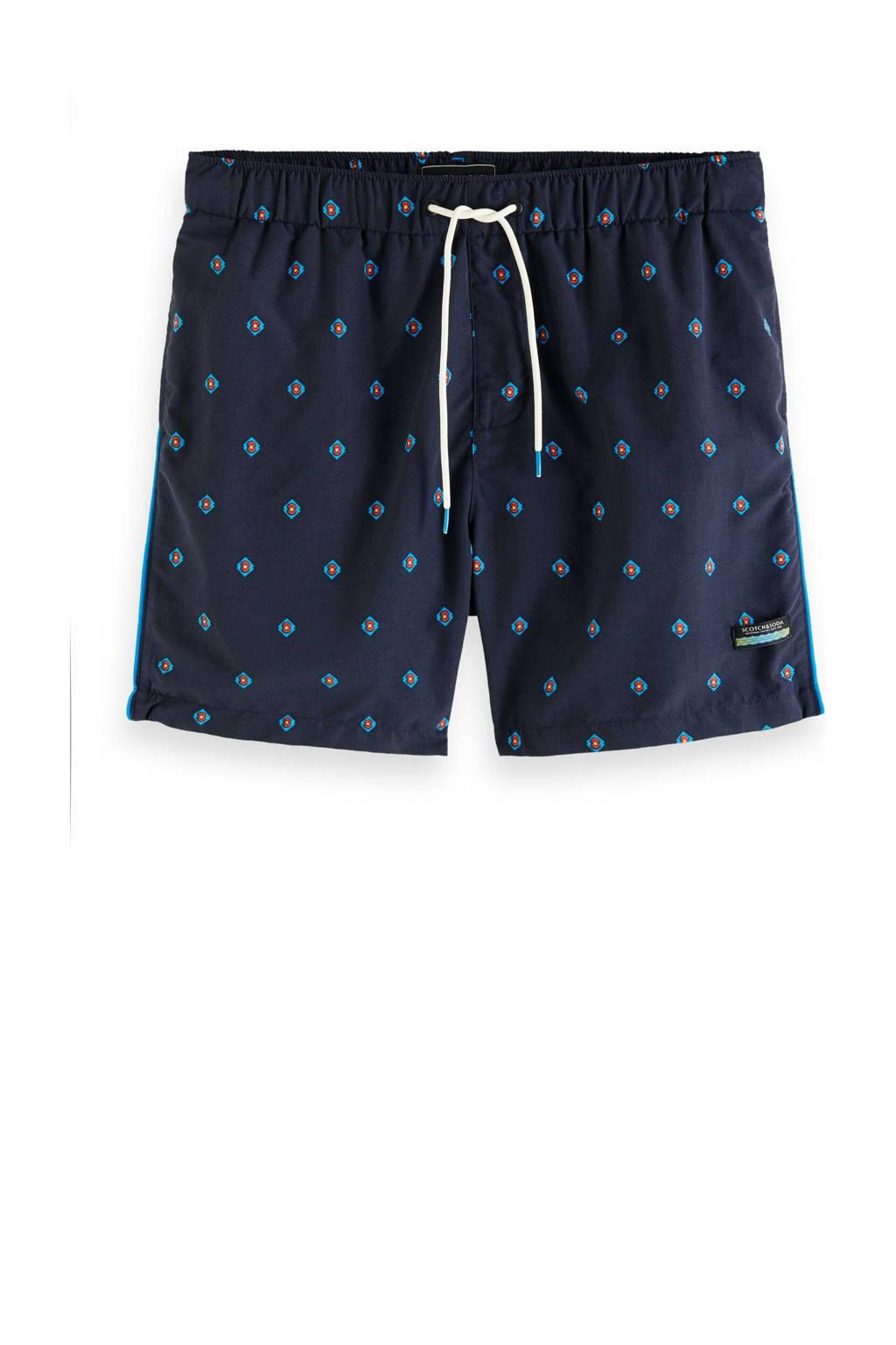 Scotch & Soda zwemshort met all over print donkerblauw, Donkerblauw