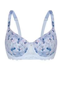 Sassa Mode gebloemde voorgevormde beugelbh Beautiful Morning lichtblauw, Lichtblauw