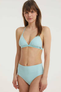 Superdry gestreept high waist bikinibroekje lichtblauw/wit, Lichtblauw/wit