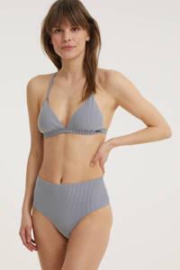 Superdry gestreept high waist bikinibroekje donkerblauw/wit, Donkerblauw/wit