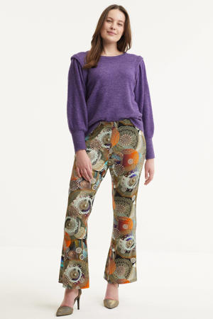 flared broek Cathrine met all over print multi
