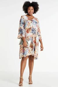STUDIO jurk met all over print oranje/multi, Oranje/multi