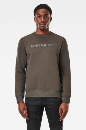 sweater met biologisch katoen donkergroen