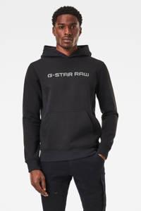 G-Star RAW hoodie met biologisch katoen zwart, Zwart