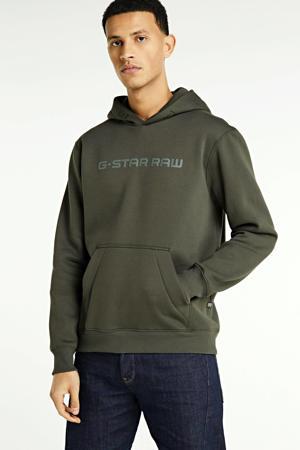 hoodie met biologisch katoen donkergroen