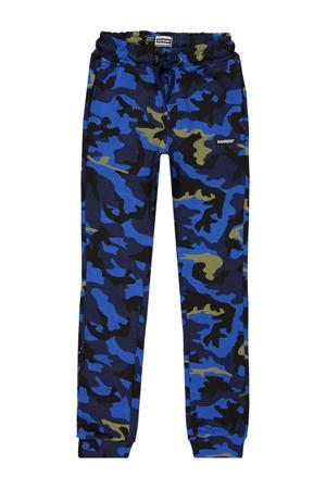joggingbroek Luke met camouflageprint baluw/donkerblauw
