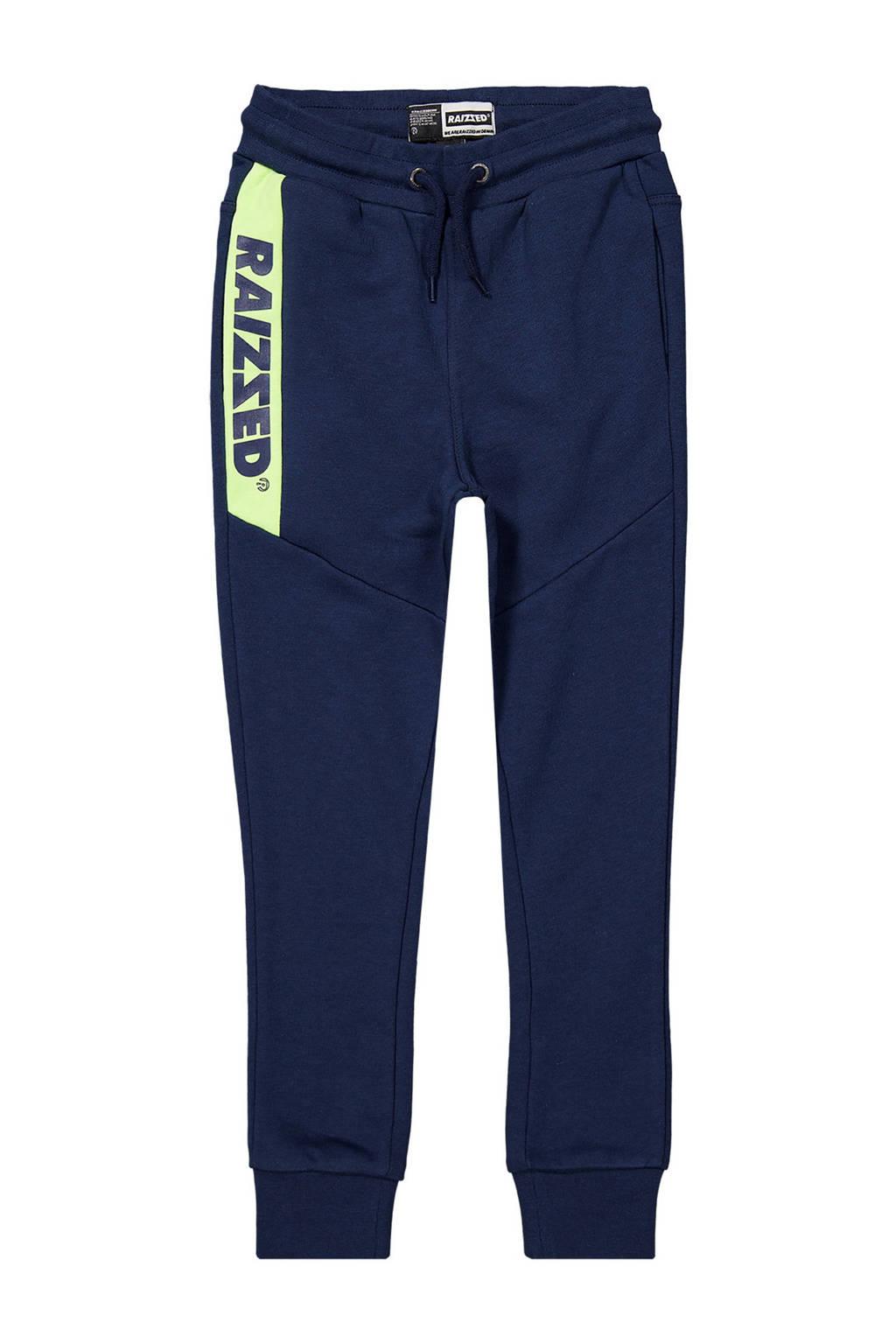 Raizzed skinny joggingbroek Pete met logo donkerblauw, Donkerblauw