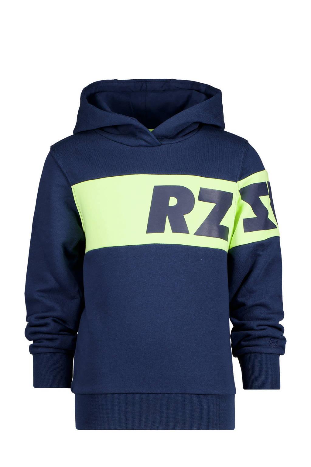 Raizzed hoodie Jeff met logo donkerblauw, Donkerblauw