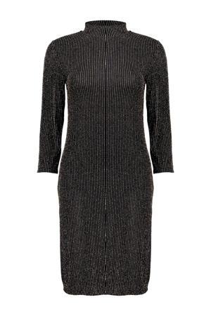 gestreepte jurk zwart/goud