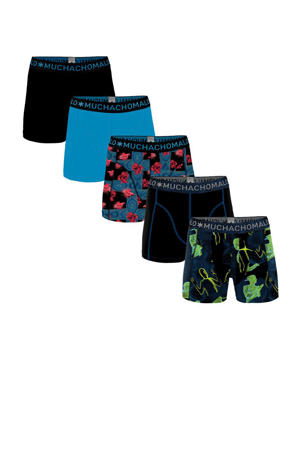 boxershort - set van 5 zwart/blauw