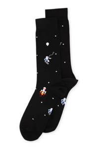 Alfredo Gonzales sokken Astronauts in Space zwart, Zwart