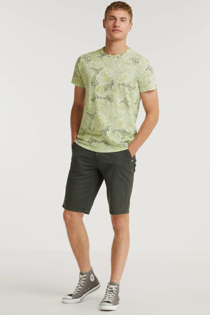 T-shirt met all over print lime