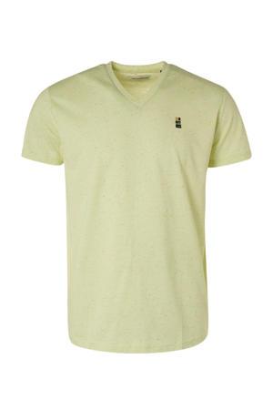 gemêleerd T-shirt lichtgeel