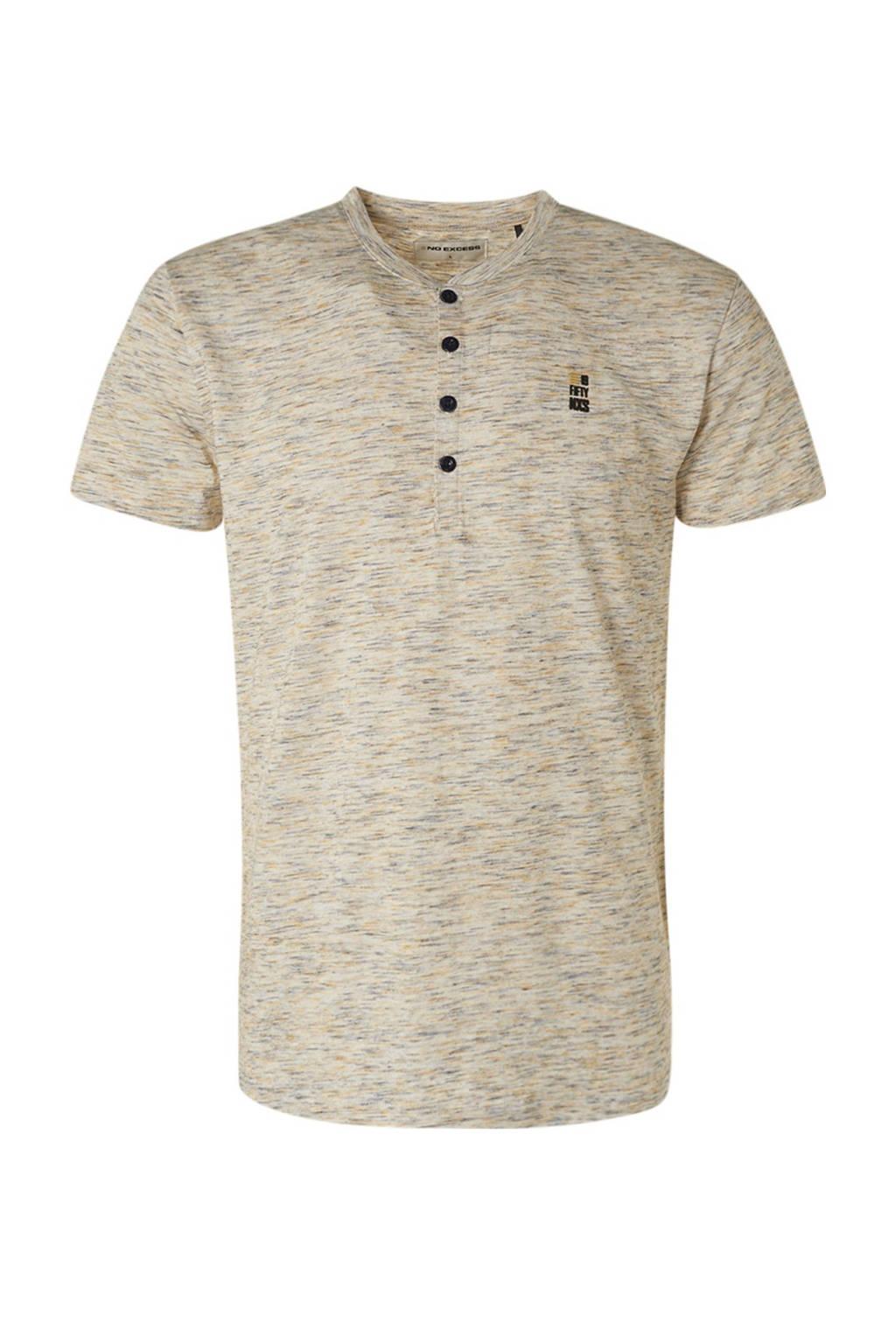 No Excess gemêleerd T-shirt beige, Beige