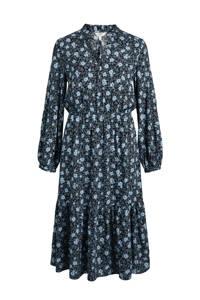 OBJECT blousejurk met stippen donkerblauw, Donkerblauw