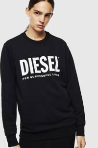 Diesel sweater met logo zwart, Zwart
