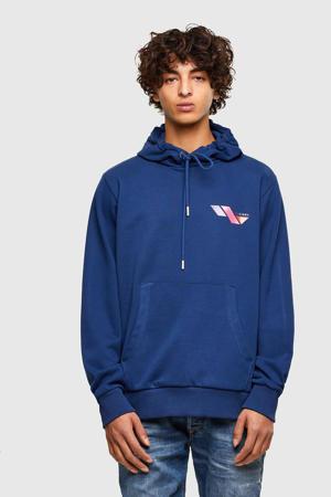 hoodie S-GIRK met logo blauw