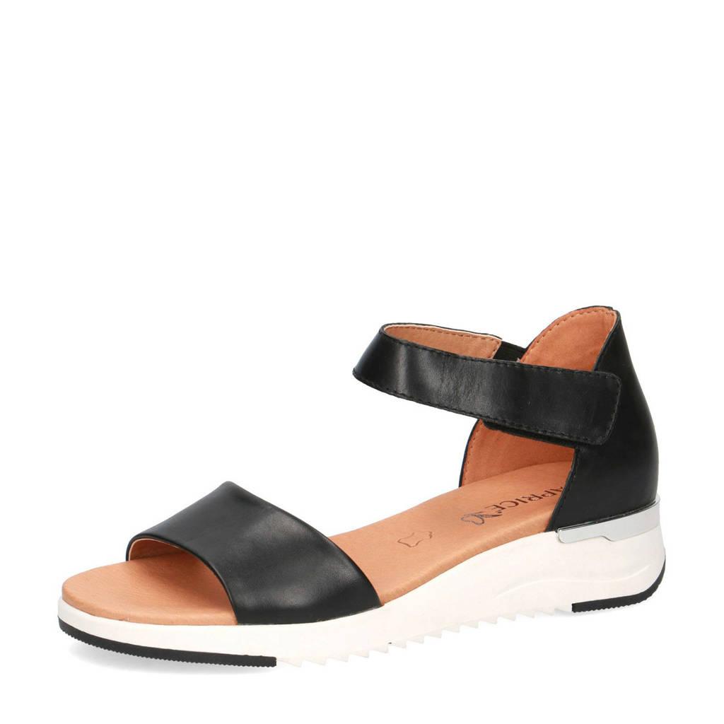 Caprice Kandy  leren sandalen zwart, Zwart