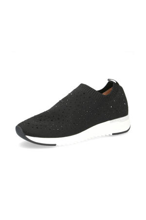 Kaiafly  sneakers met strass steentjes zwart