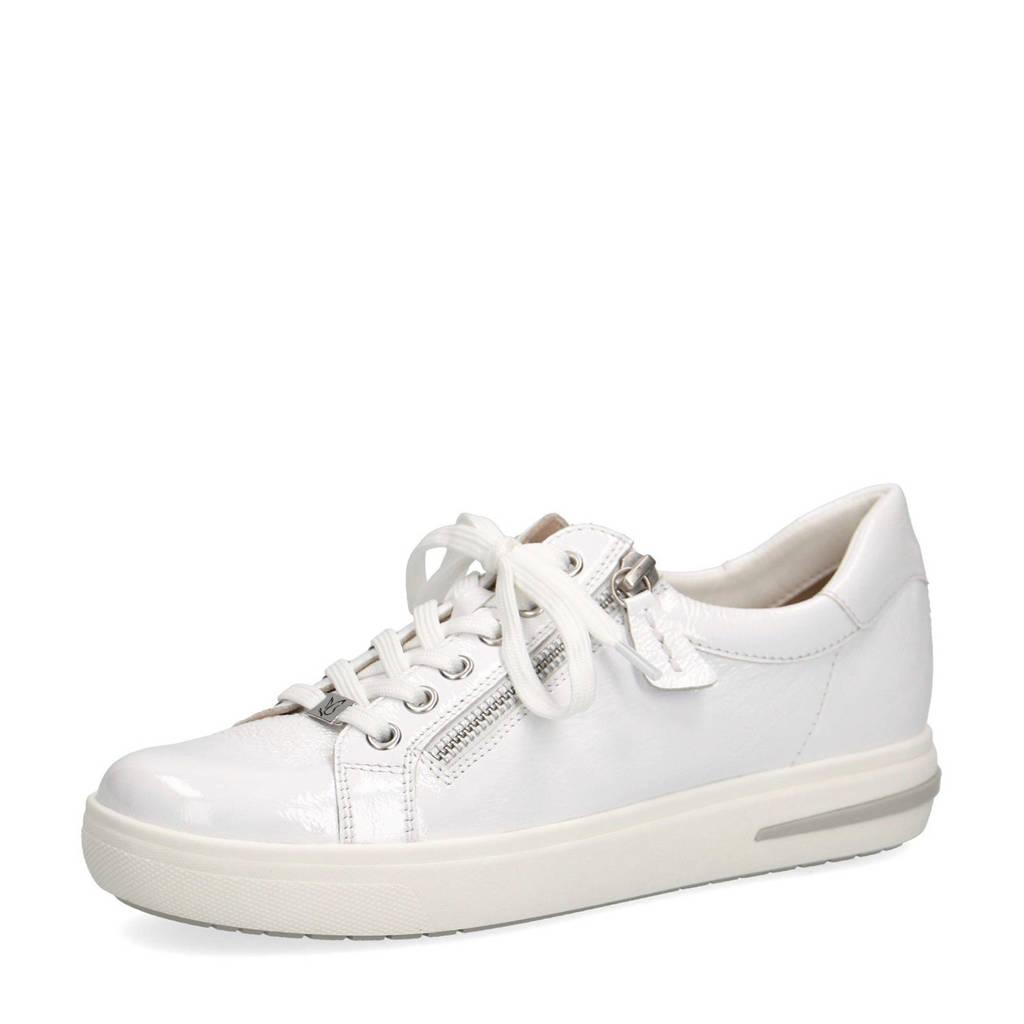 Caprice Manou  lakleren sneakers wit, Wit