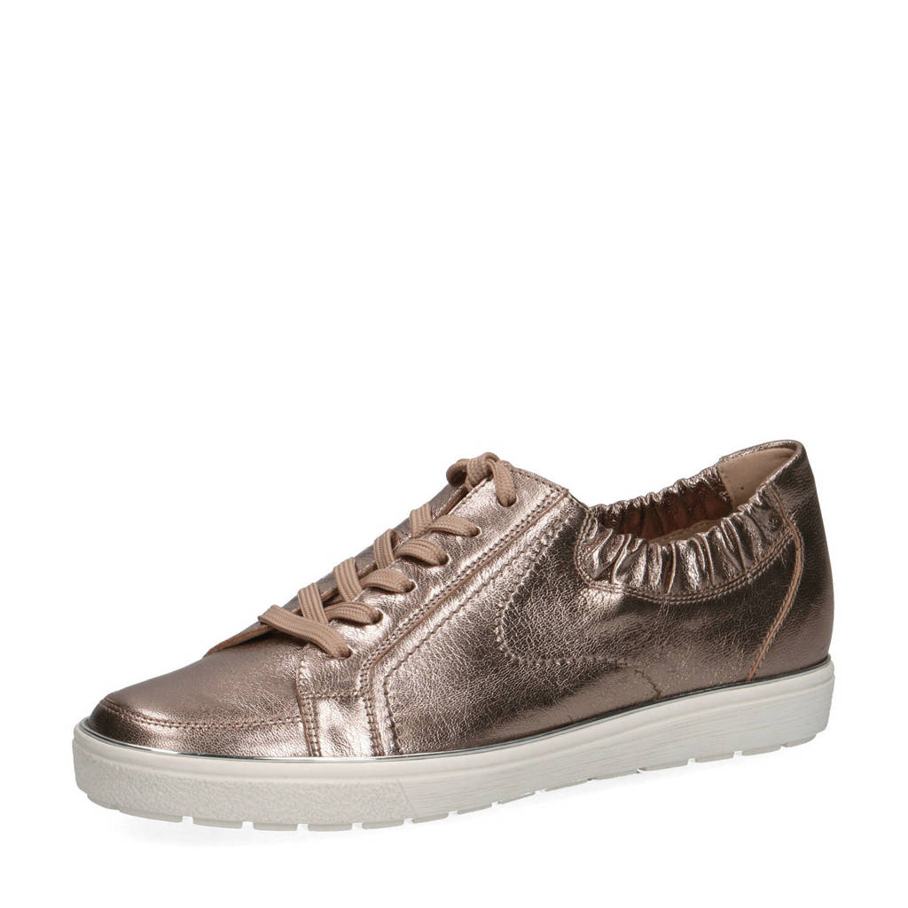 Caprice Manou  leren sneakers brons, Brons/Metallic