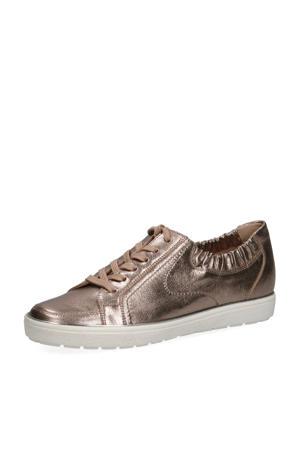 Manou  leren sneakers brons