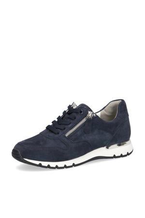 Ginga comfort suède sneakers donkerblauw