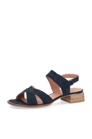 Malta  suède sandalen donkerblauw