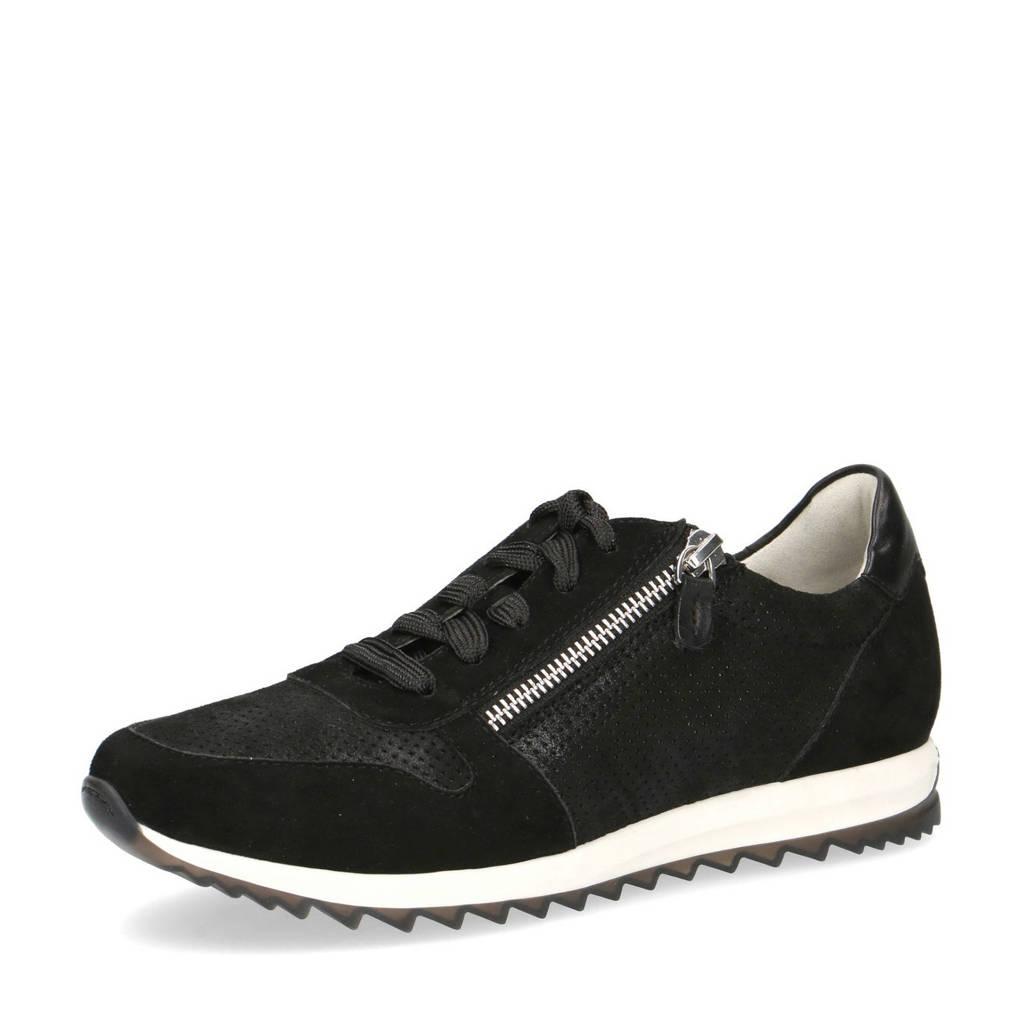 Caprice Mila  suède sneakers zwart, Zwart