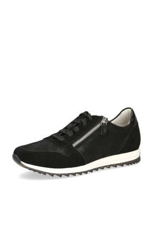 Mila  suède sneakers zwart
