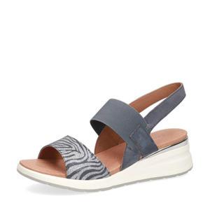 Milano  leren sandalen grijsblauw