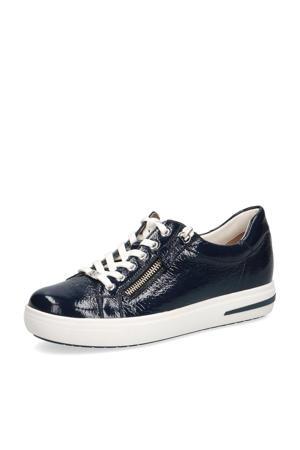 Manou  lakleren sneakers donkerblauw
