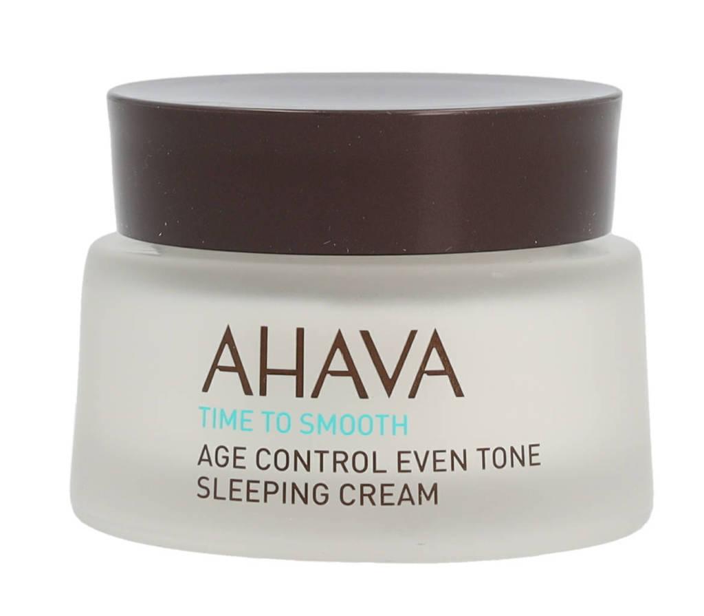 Ahava Time To Sleep Age Control Even Tone Sleeping Cream nachtcrème - 50 ml