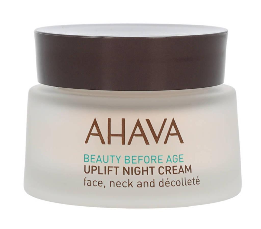 Ahava Uplift Night Cream Face, Neck, Décolleté nachtcrème - 50 ml