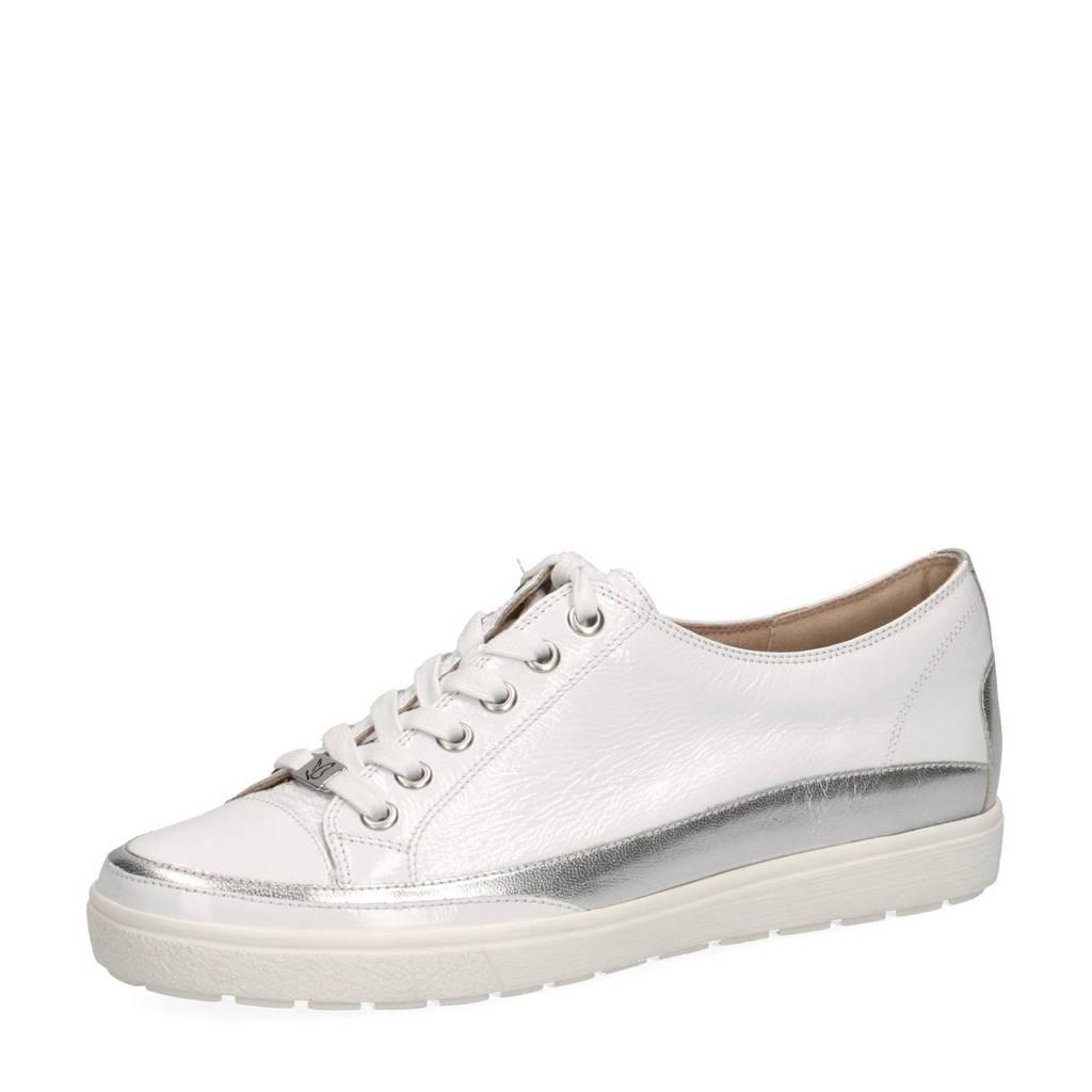 Caprice Manou  lakleren sneakers wit/zilver, Wit/zilver
