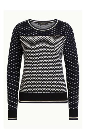 fijngebreide trui Bella zwart/wit