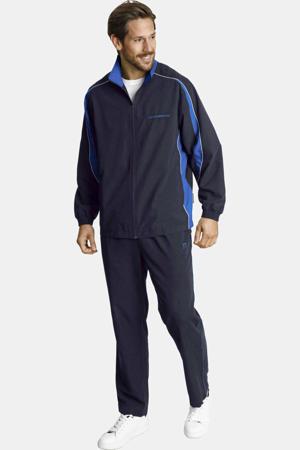 Plus Size trainingspak Eirik zwart/blauw