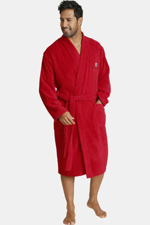 Plus Size badstof badjas Janning rood
